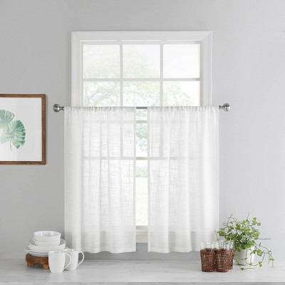 Set of 2 Bayside Curtain Tiers White - Vue