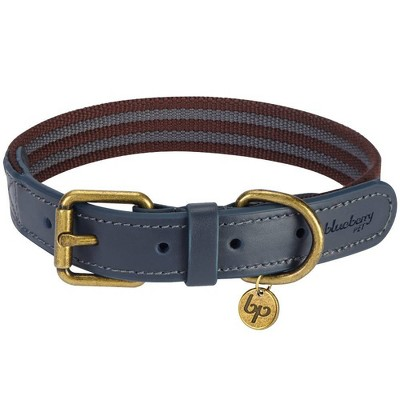 Blueberry Pet Polyester and Leather Dog Collar