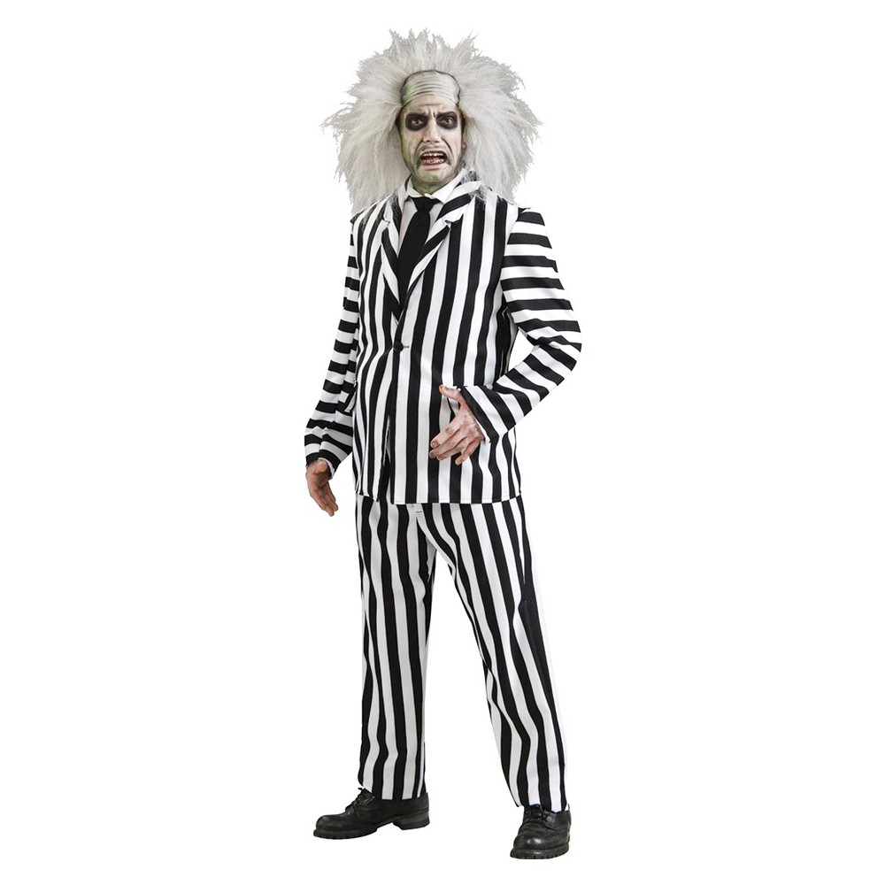 Men's Beetlejuice Deluxe Costume X-Large, Size: XL (42-46), Multicolored