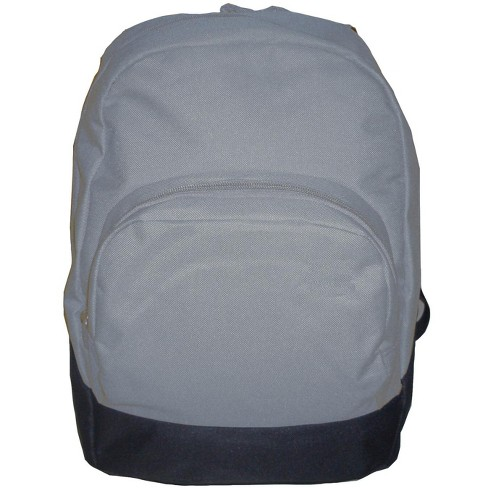 School Smart 1-Pocket Backpack with Front Pocket Organizer and Hidden Pouch, 17.3 X 12.4 X 6 in, Polyester, Gray - image 1 of 1