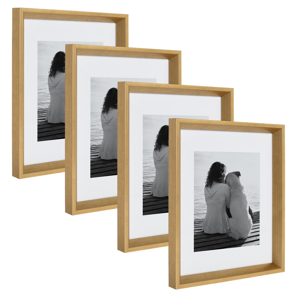 "Image of ""11""""x14"""" Calter Photo Frame Set Gold - Kate & Laurel All Things Decor"""