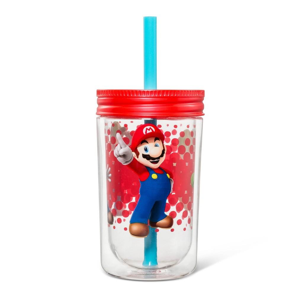 Image of Super Mario 12.5oz Plastic Three Player Power Kids Tumbler