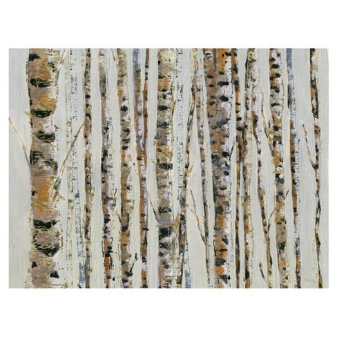 """30""""x40"""" Birch Bling By Katrina Craven Art On Canvas - Fine Art Canvas - image 1 of 4"""
