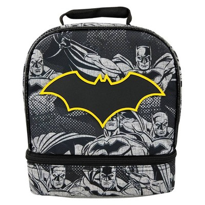 Batman Dual Compartment Lunch Bag - Black
