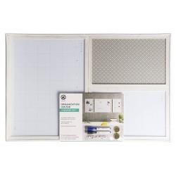 "11"" x 17"" Organization Center 3-Board Set White Frame - U-Brands"