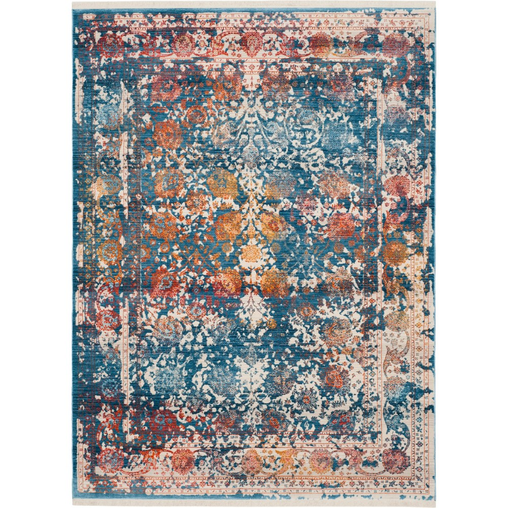 4'X6' Shapes Loomed Area Rug Turquoise - Safavieh, Turquoise/Multi-Colored