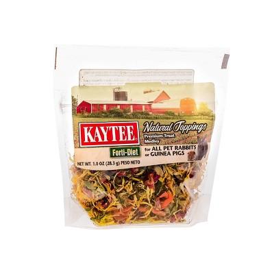 Kaytee Natural Toppings Rabbit Guinea Pig Treats - 1oz