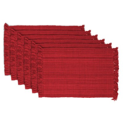 Set of 6 Variegated Fringe Placemat - Design Imports