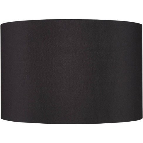 Springcrest Black Faux Silk Large Drum, Large Drum Lamp Shade Grey