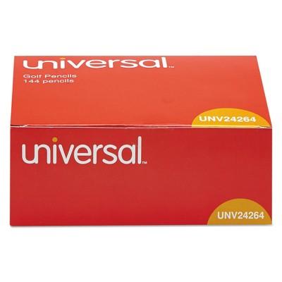 Universal 144pk #2 Golf & Pew Pencil Yellow Barrel