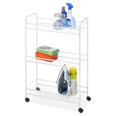 Whitmor Slim Household Utility Cart White