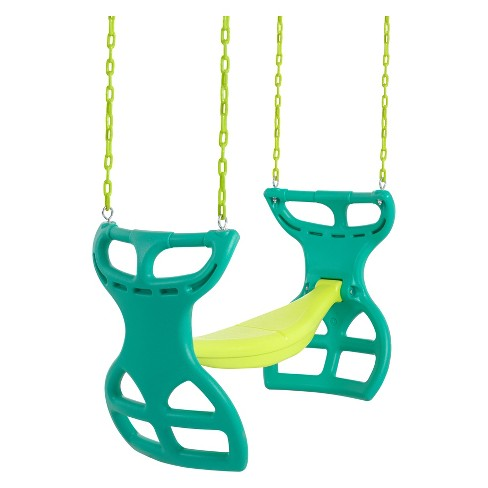 Swingan Two Seater Glider Swing - Green/Yellow - image 1 of 5