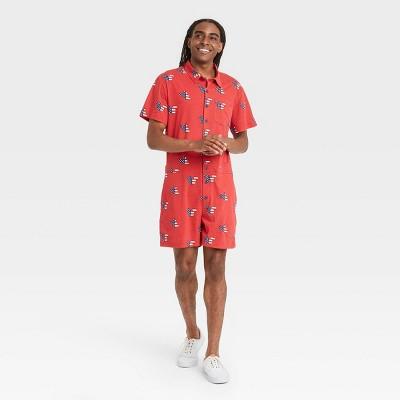 Men's Disney Americana Pajama Romper - Red