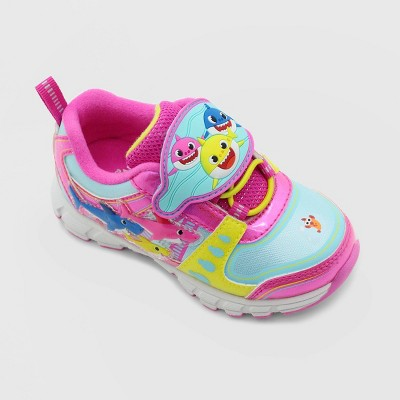 Toddler Girls' Nick Jr. Baby Shark Athletic Sneakers - Pink