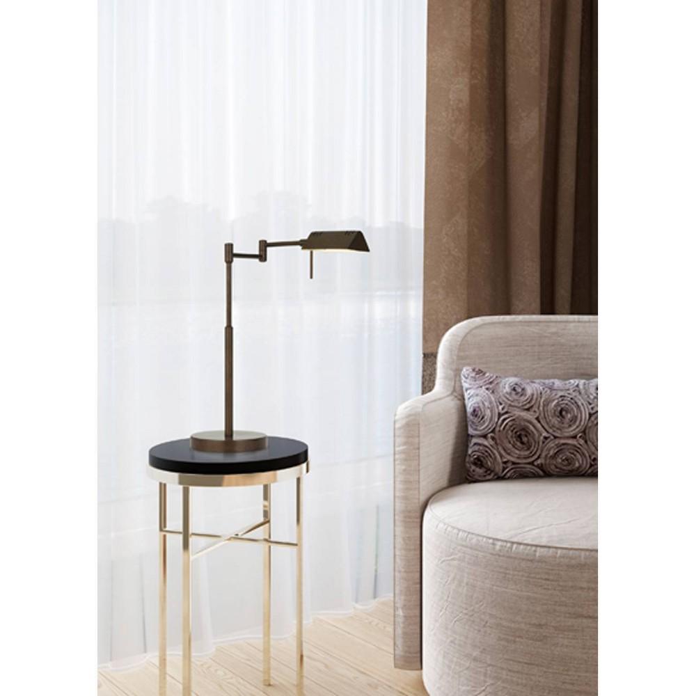 Clemson Metal Led Pharmacy Swing Arm Adjustable Desk Lamp Rust (Includes Energy Efficient Light Bulb) - Cal Lighting