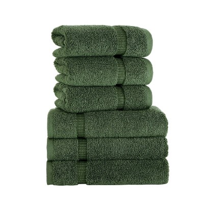 6pc Villa Hand Towel Set Green - Royal Turkish Towel