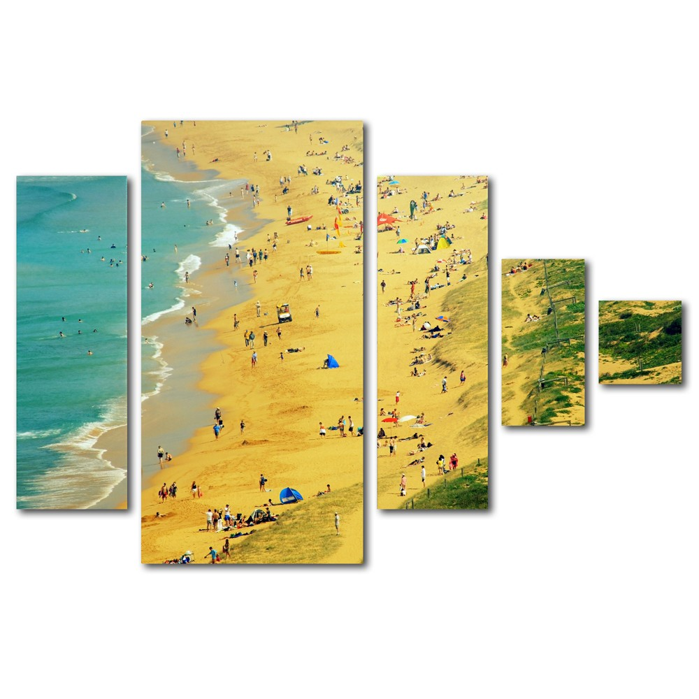 'Life is a Beach' by Beata Czyzowska Young Ready to Hang Multi Panel Art Set, Multi-Colored