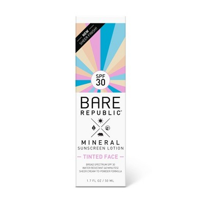 Sunscreen & Tanning: Bare Republic Tinted Face