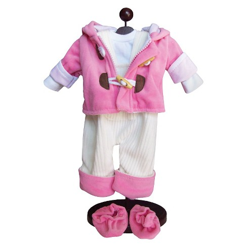 The Queen's Treasures® 15 Inch Baby Doll Clothes, Bitty Twins 5pc Pink Jumper, Jacket, Shirts & Shoes - image 1 of 6