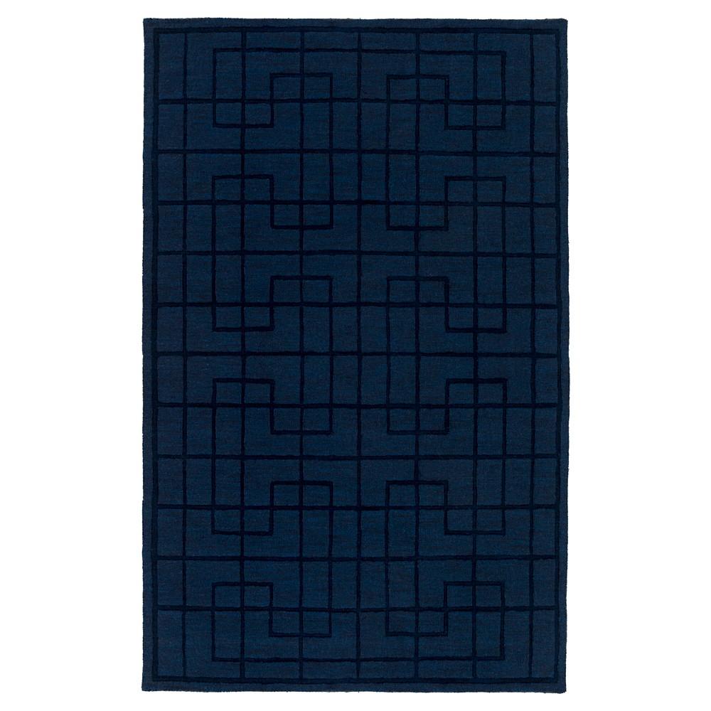 Navy (Blue) Abstract Loomed Area Rug - (5'X8') - Surya