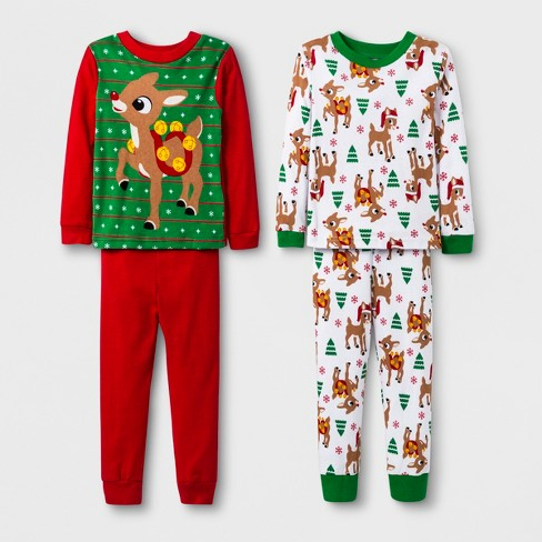 137f2fcdfd Toddler Boys  Rudolph the Red-Nosed Reindeer 4pc Cotton Pajama Set ...