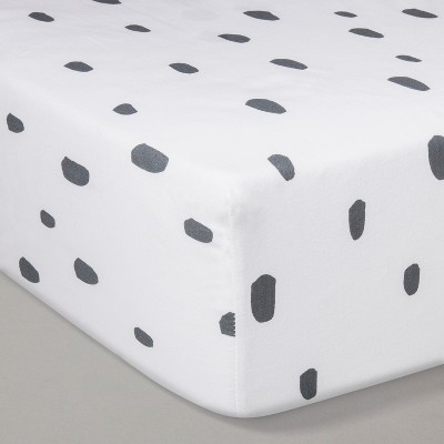 Crib Fitted Sheet - Cloud Island™ White/Gray
