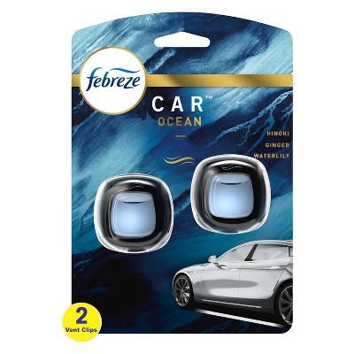 Febreze Car Odor-Eliminating Air Freshener Vent Clips - Ocean - 2 ct