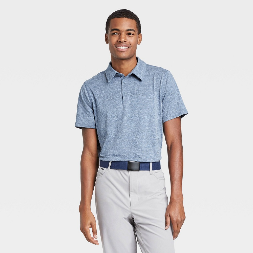 Men's Jersey Golf Polo Shirt - All in Motion Blue Heather XL, Blue Grey was $20.0 now $12.0 (40.0% off)