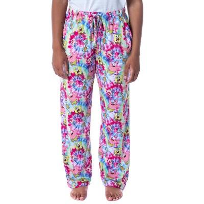 Nickelodeon Womens' SpongeBob SquarePants Spiral Tie Dye Sleep Pajama Pants