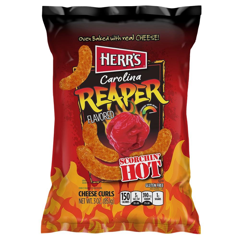 Herr's Carolina Reaper Flavored Scorchin' Hot Cheese Curls - 3oz