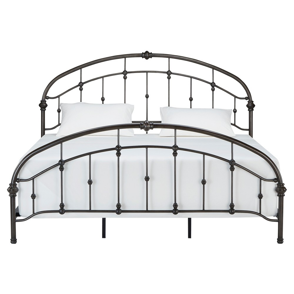 Darby Metal Bed - King - Bronzed Black - Inspire Q