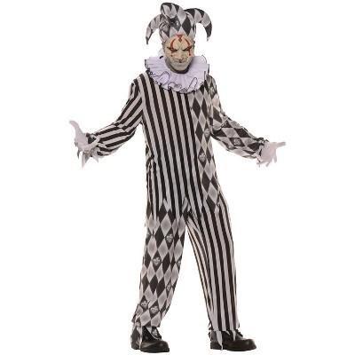 Adult Evil Harlequin Halloween Costume One Size