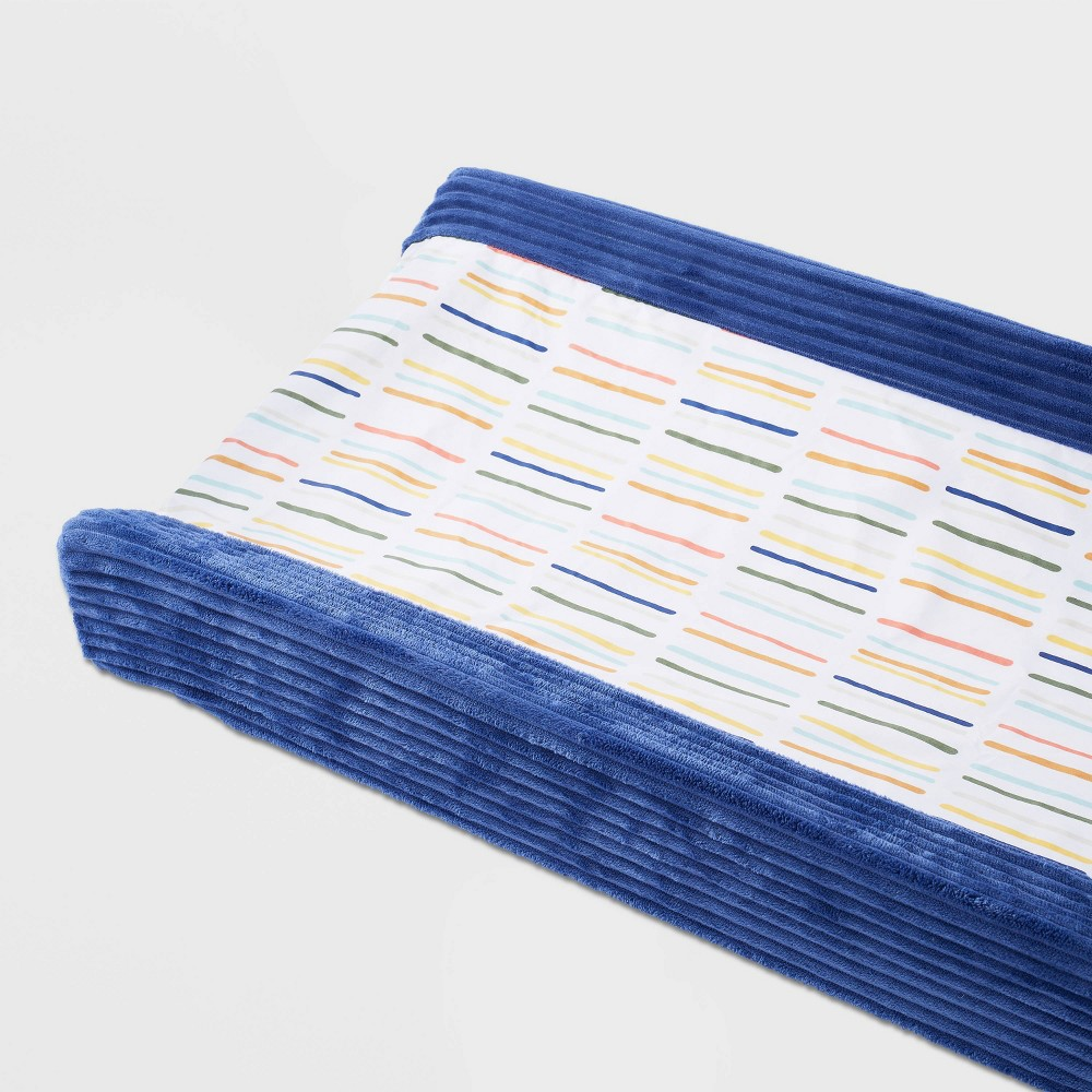 Wipeable Changing Pad Cover Dashes Cloud Island 8482 Navy