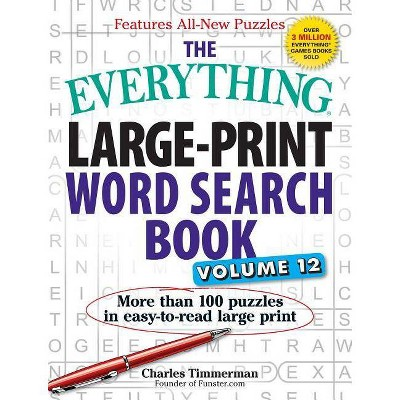 graphic regarding Large Printable Word Search titled The Anything Weighty-Print Phrase Seem Reserve, Amount 12 - (Nearly anything(r)) as a result of Charles Timmerman