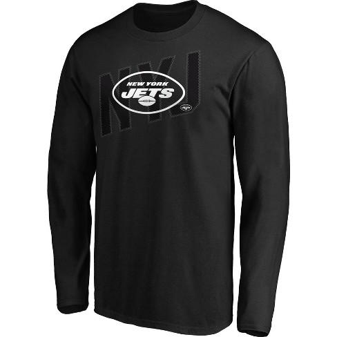 NFL New York Jets Men's Tridcode Metallic Logo Long Sleeve T-Shirt - Black - image 1 of 3