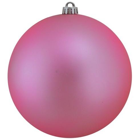 Northlight 8 Shatterproof Matte Christmas Ball Ornament Pink Target