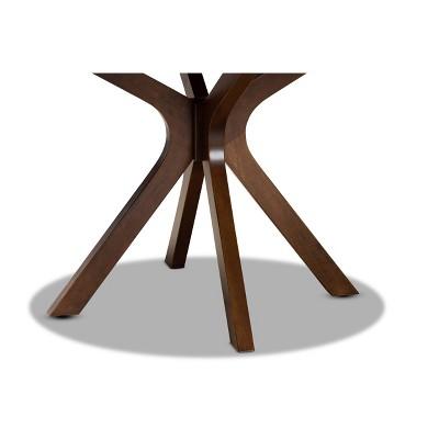 "48"" Kenji Wide Round Wood Dining Table Walnut - Baxton Studio : Target"