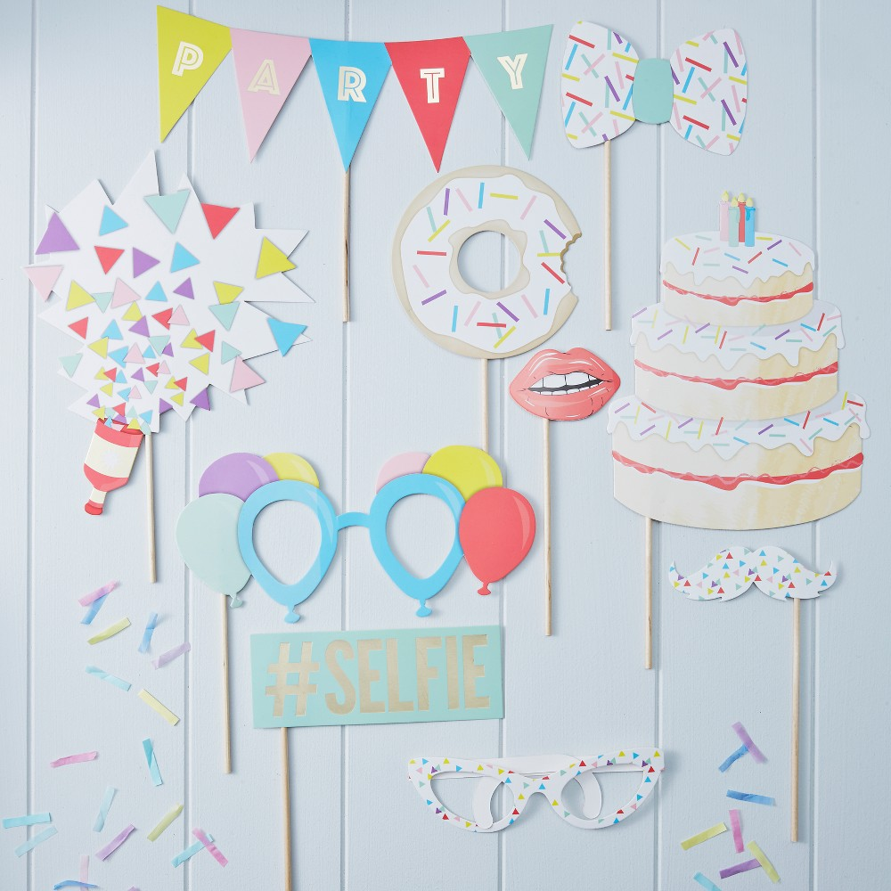 Image of 10ct Photo Booth Party Props Pick And Mix