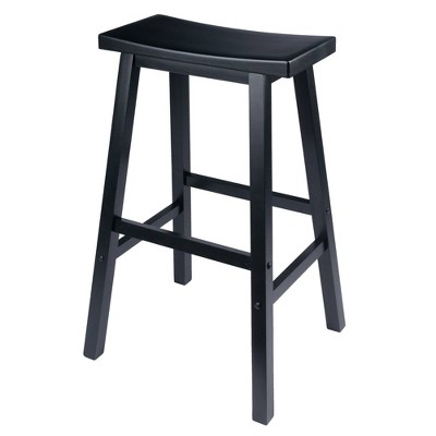 29  Satori Saddle Seat Bar Stool - Black - Winsome