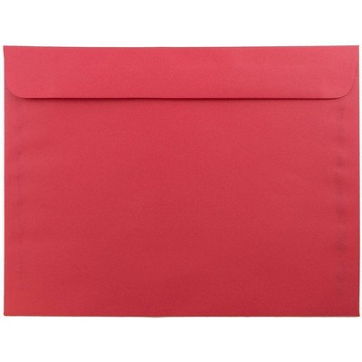 """JAM Paper 50pk 9""""x12"""" Booklet Recycled Envelopes - Red"""