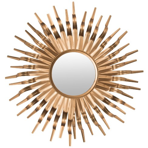 Sunburst Decorative Wall Mirror Gold - Safavieh - image 1 of 3