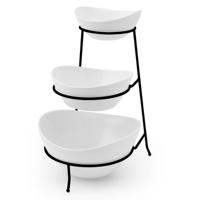 Porcelain 3-Tier Serving Stand White - Certified International