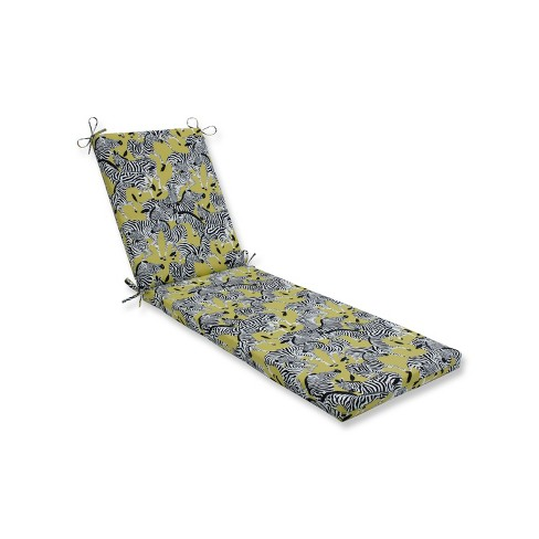 Indoor/Outdoor Herd Together Wasabi Yellow Chaise Lounge Cushion - Pillow Perfect - image 1 of 1