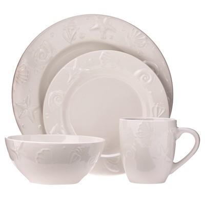 C.C.A. International Seashells 16pc Dinnerware Set