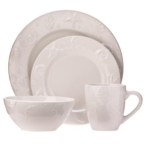 C.C.A. International Seashells 16pc Dinnerware Set - image 1 of 1