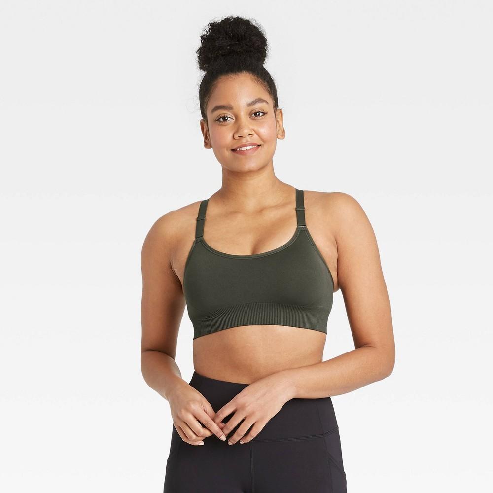 Women 39 S Medium Support Seamless Bra All In Motion 8482 Olive Green Xxl