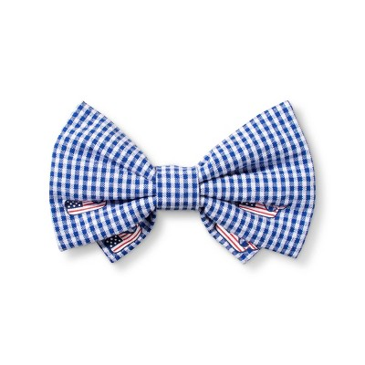 Flag Whale and Gingham Collar Slide Pet Bow Tie - Navy - One Size - vineyard vines® for Target