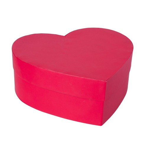 Valentine S Day Large Heart Shaped Rigid Gift Box Red Spritz Target