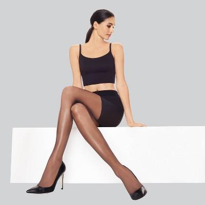 Hanes Premium Women's Perfect Leg Boost Energizing Tights - Jet Black