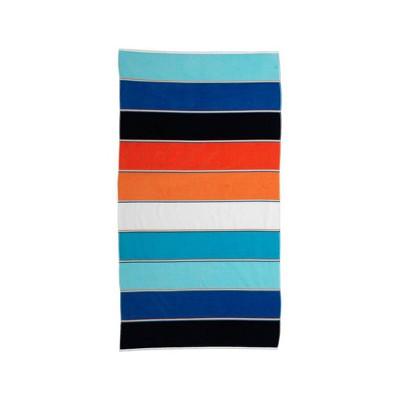 Maya Beach Towel Orange/Navy - Caro Home